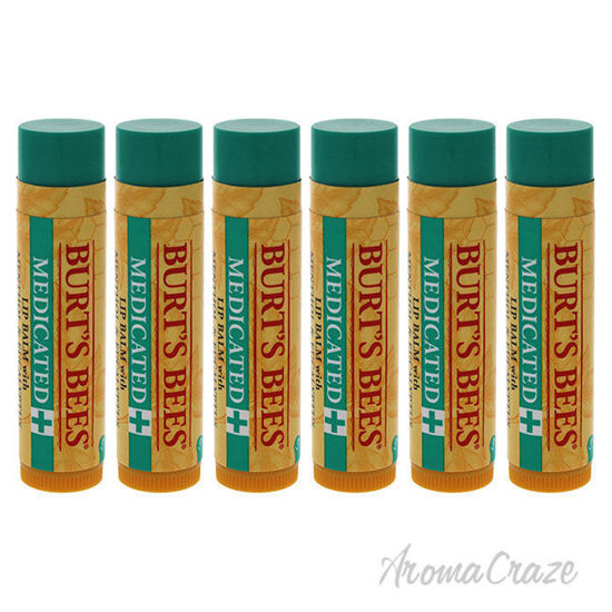 Picture of Medicated Moisturizing Lip Balm by Burts Bees for Unisex - 0.15 oz Lip Balm - Pack of 6