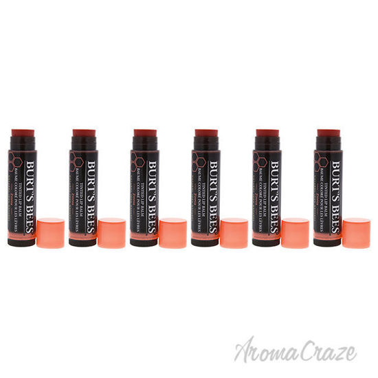 Picture of Tinted Lip Balm - Zinnia by Burts Bees for Women - 0.15 oz Lip Balm - Pack of 6