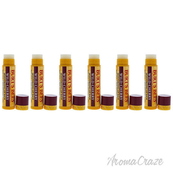 Picture of Wild Cherry Moisturizing Lip Balm by Burts Bees for Unisex - 0.15 oz Lip Balm - Pack of 6
