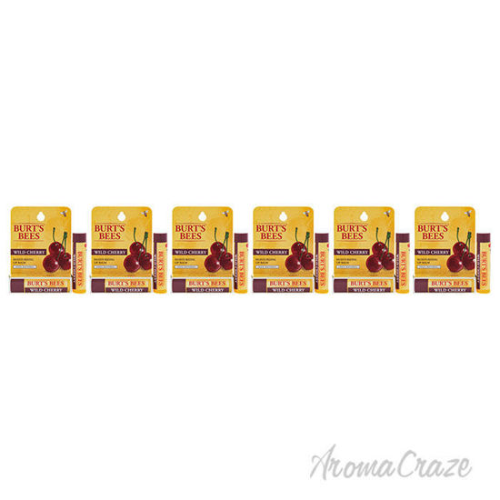 Picture of Wild Cherry Moisturizing Lip Balm Blister by Burts Bees for Unisex 0.15 oz Lip Balm Pack of 6