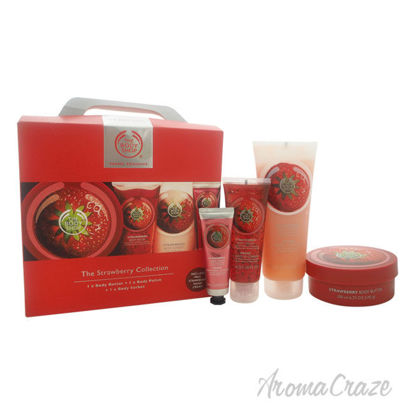 Picture of The Strawberry Collection Travel Exclusive by The Body Shop for Unisex 4 Pc Kit