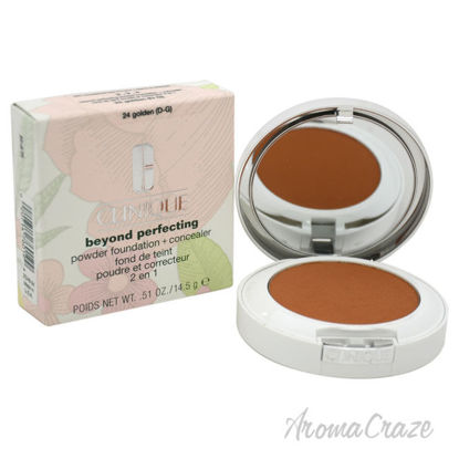 Picture of Beyond Perfecting Powder Foundation+Concealer 24 Golden(D G)Dry Comb. To Oily by Clinique for Women