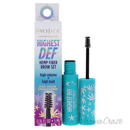 Picture of Highest Def Hemp Fiber Brow Set 0 Clear by Pacifica for Women 0.16 oz Eyebrow Gel