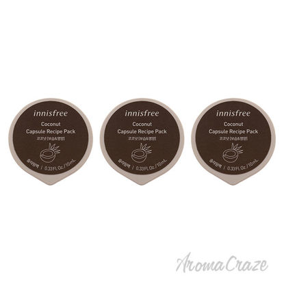 Picture of Capsule Recipe Pack Mask Coconut by Innisfree for Unisex 0.33 oz Mask Pack of 3