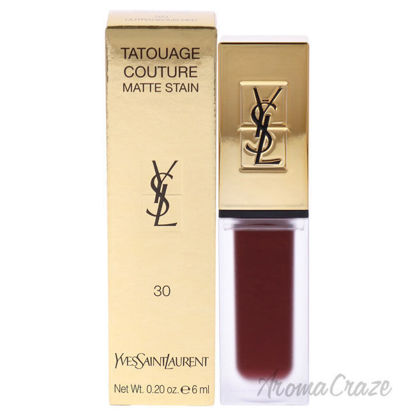 Picture of Tatouage Couture Liquid Matte Lip Stain 30 Outrageous Red by Yves Saint Laurent for Woman 0.2 oz Lip Gloss