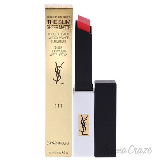 Picture of Rouge Pur Couture The Slim Sheer Matte Lipstick 111 Corail Explicite by Yves Saint Laurent for Women 0.07 oz Lipstick