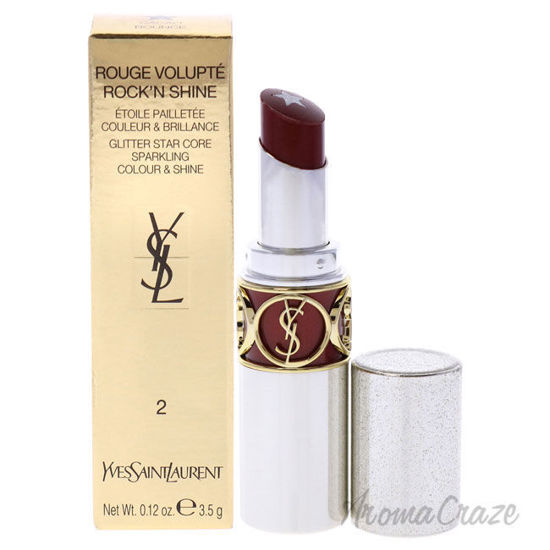 Picture of Rouge Volupte RockN Shine Lipstick 02 Cacao Bounce by Yves Saint Laurent for Women 0.12 oz Lipstick
