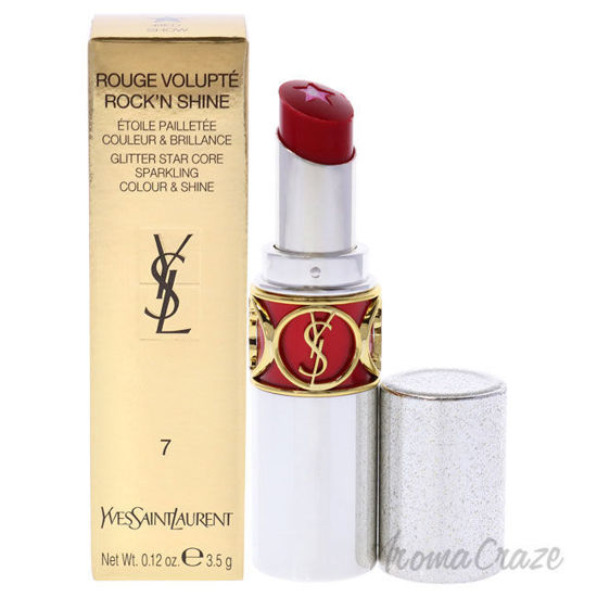 Picture of Rouge Volupte RockN Shine Lipstick 07 Red Show by Yves Saint Laurent for Women 0.14 oz Lipstick