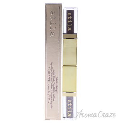 Picture of Double Dip Suede Shade and Glitter and Glow Liquid Eye Shadow Grey Fox by Stila for Women 2 x 0.07 oz Eye Shadow