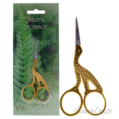 Picture of Stork Scissors Gold by Satin Edge for Unisex 3.5 Inch Scissors