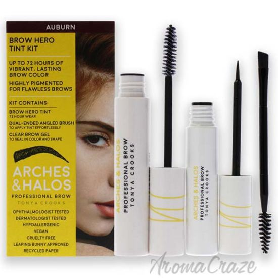 Picture of Brow Hero Tint Kit - Auburn by Arches and Halos for Women - 2 Pc Dual-Ended Angled Brush, Clear Brow Gel