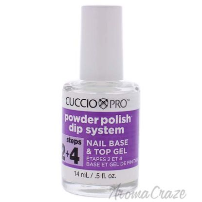 Picture of Pro Powder Polish Dip System Nail Base and Top Gel - Step 2 and 4 by Cuccio for Women - 0.5 oz Nail Polish